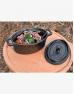 Кастрюля чугунная с крышкой 500 мл порционная