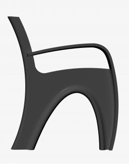 Боковина чугунная СВ-01-П для уличной парковой скамейки ПРАВАЯ
